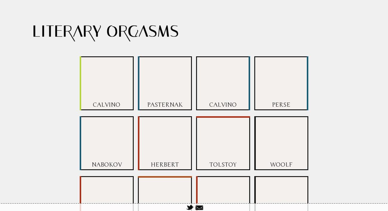 Literary Orgasms