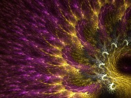 Apophysis flame fractal peacock