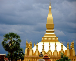 Pha That Luang temple, Vientiane, Laos